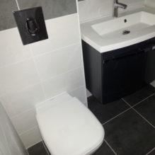 toilette carrelage blanc noir
