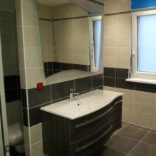 salle de bain bois carrelage