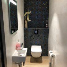 Toilette suspendu mosaique