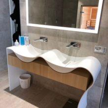 Salle de bain vasque moderne miroir